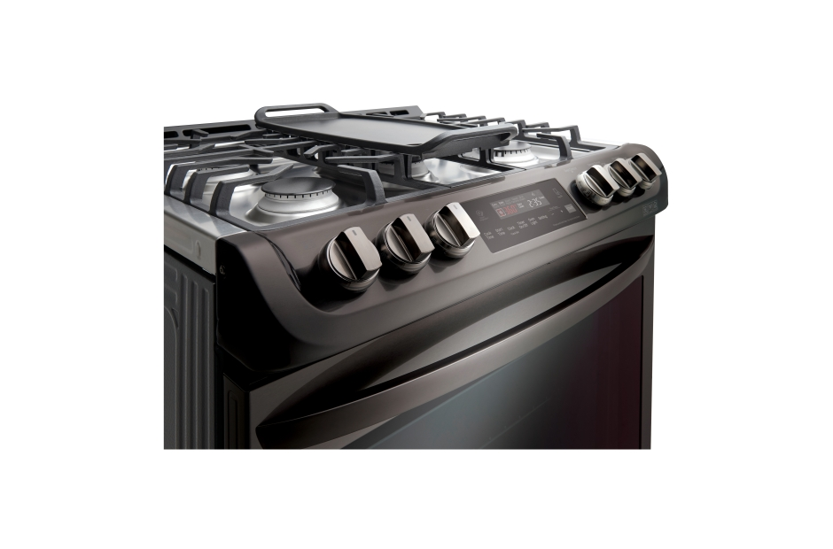 Model: LSG4513BD-FM | LG 6.3 cu. ft. Gas Single Oven Slide-in Range with ProBake Convection® and EasyClean®