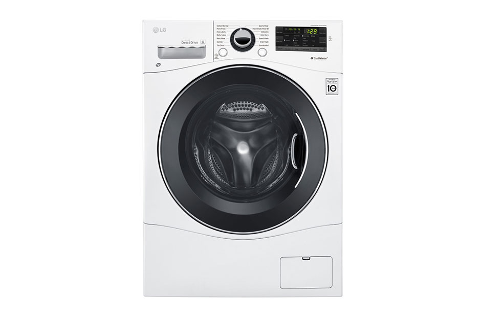"LG 2.3 cu. ft. Capacity 24"" Compact Front Load Washer w/ NFC Tag On"