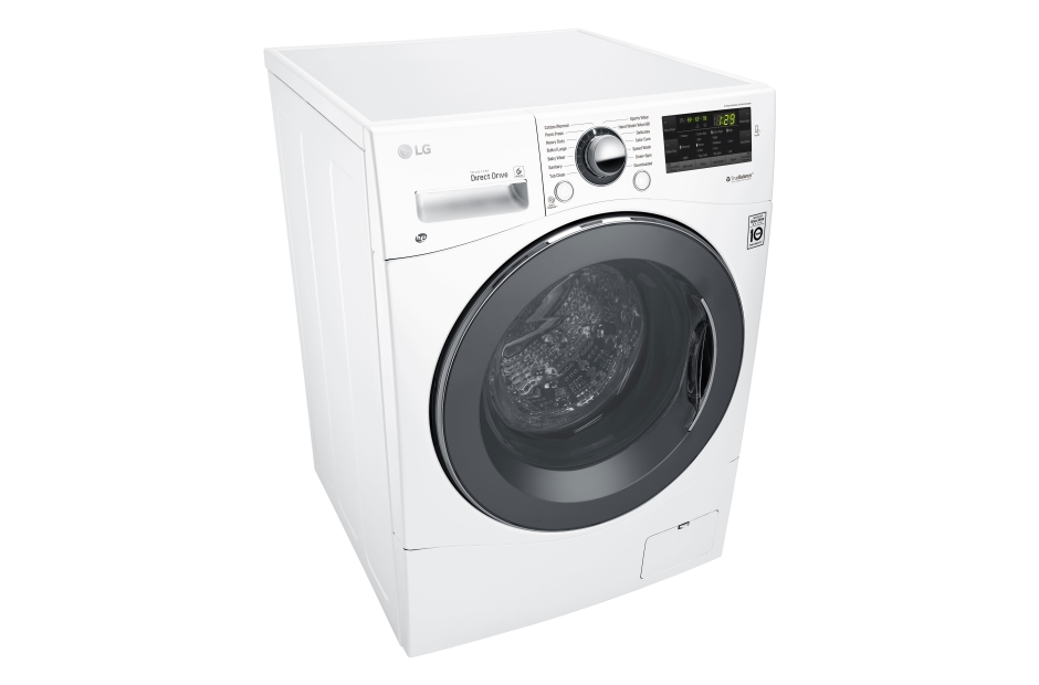 "Model: WM1388HW | LG 2.3 cu. ft. Capacity 24"" Compact Front Load Washer w/ NFC Tag On"
