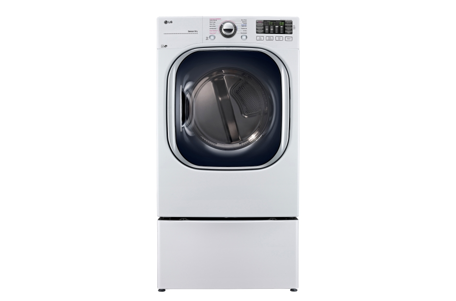 Model: DLEX4370W | LG 7.4 cu. ft. Ultra Large Capacity TurboSteam™ Electric Dryer