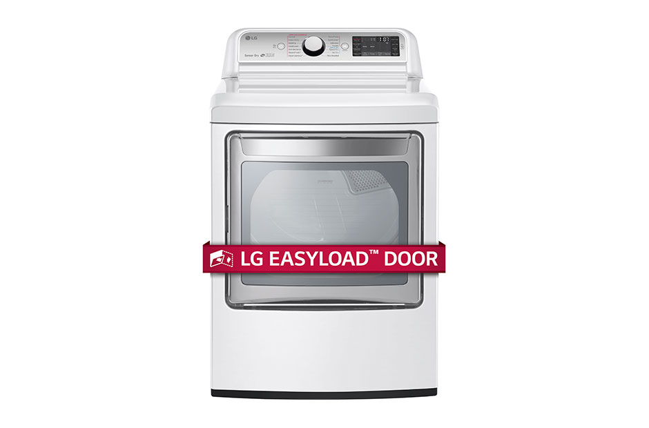 LG 7.3 cu. ft. Ultra Large Capacity TurboSteam™ Electric Dryer with EasyLoad™ Door