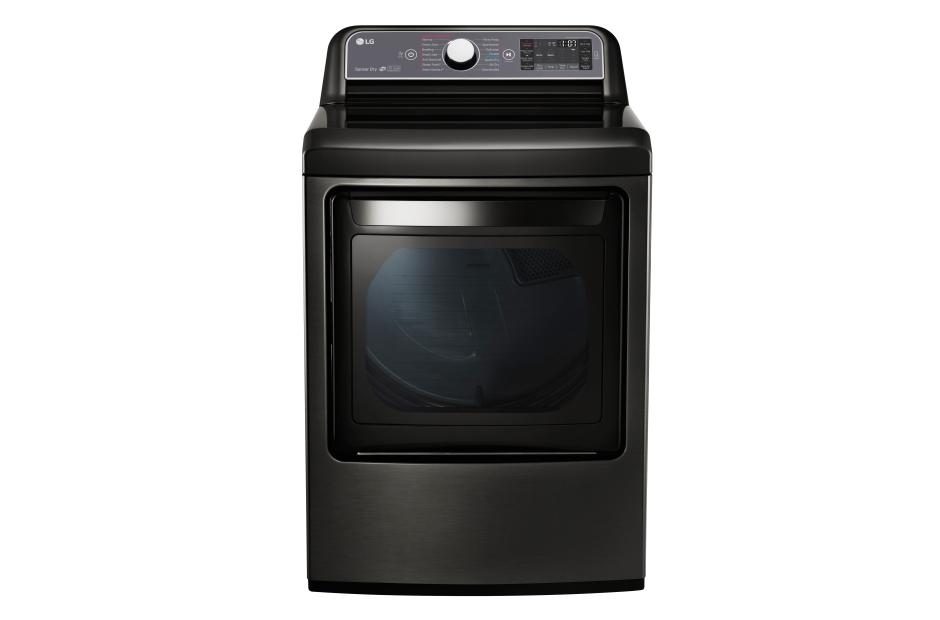 Model: DLEX7600KE | LG 7.3 cu. ft. Ultra Large Capacity TurboSteam™ Electric Dryer with EasyLoad™ Door