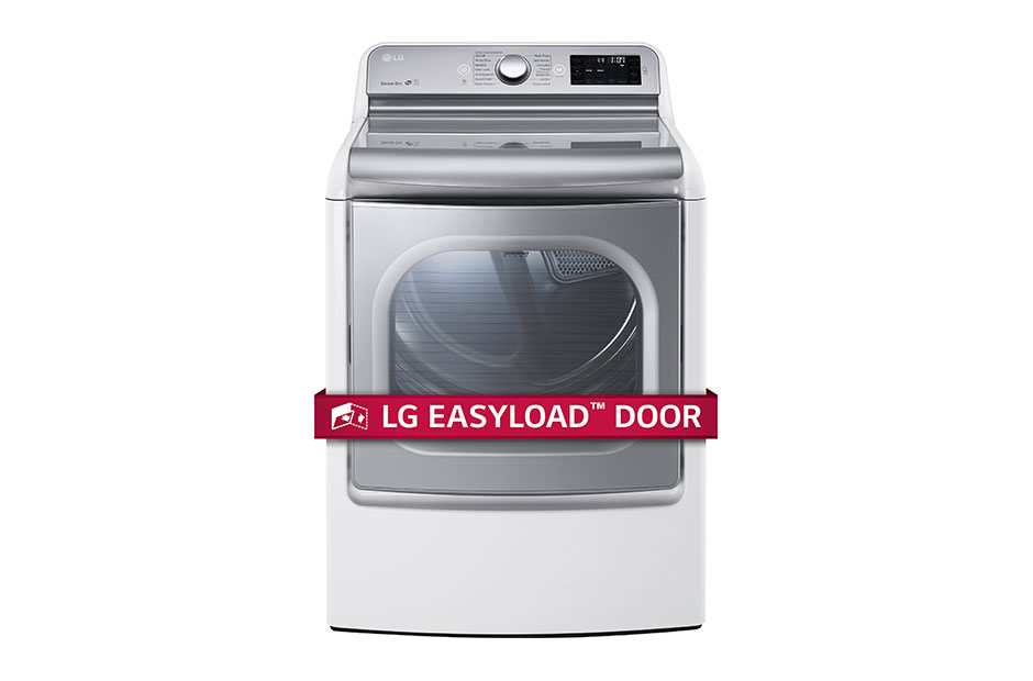 LG 9.0 Cu. Ft. Mega Large Capacity TurboSteam™ Dryer With EasyLoad™ Door