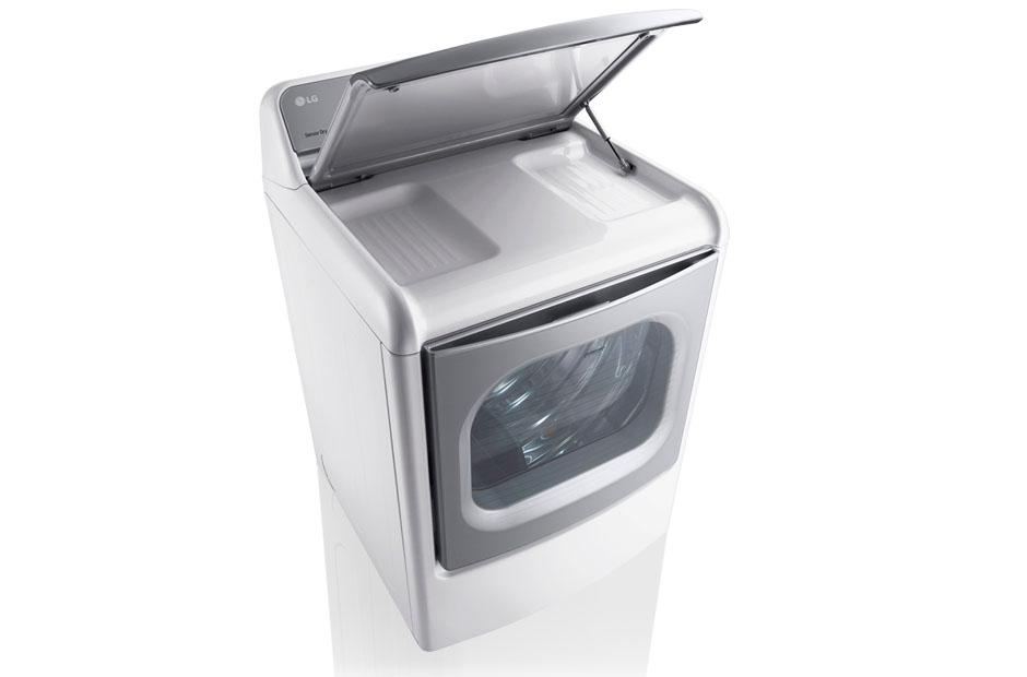 Model: DLEX7700WE | LG 9.0 Cu. Ft. Mega Large Capacity TurboSteam™ Dryer With EasyLoad™ Door