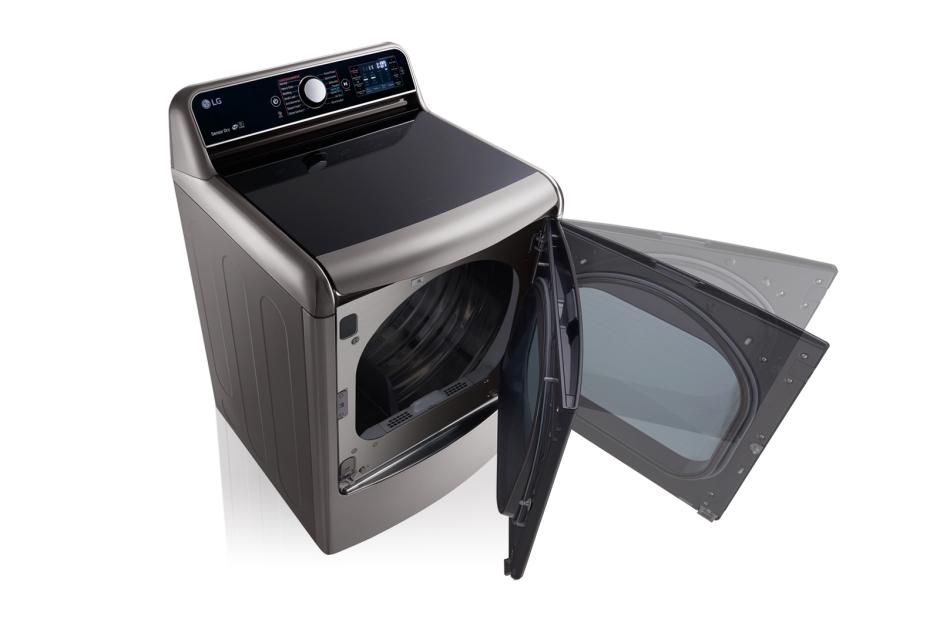 Model: DLEX7700VE | LG 9.0 Cu. Ft. Mega Large Capacity TurboSteam™ Dryer With EasyLoad™ Door