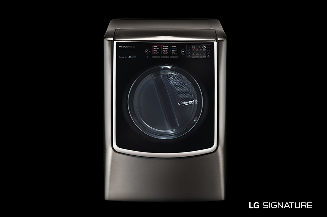 Model: DLEX9500K | LG SIGNATURE 9.0 cu. ft. Large Smart wi-fi Enabled Electric Dryer w/ TurboSteam™