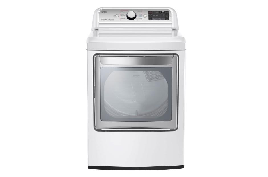 Model: DLGX7601WE | 7.3 cu. ft. Ultra Large Capacity TurboSteam™ Gas Dryer with EasyLoad™ Door