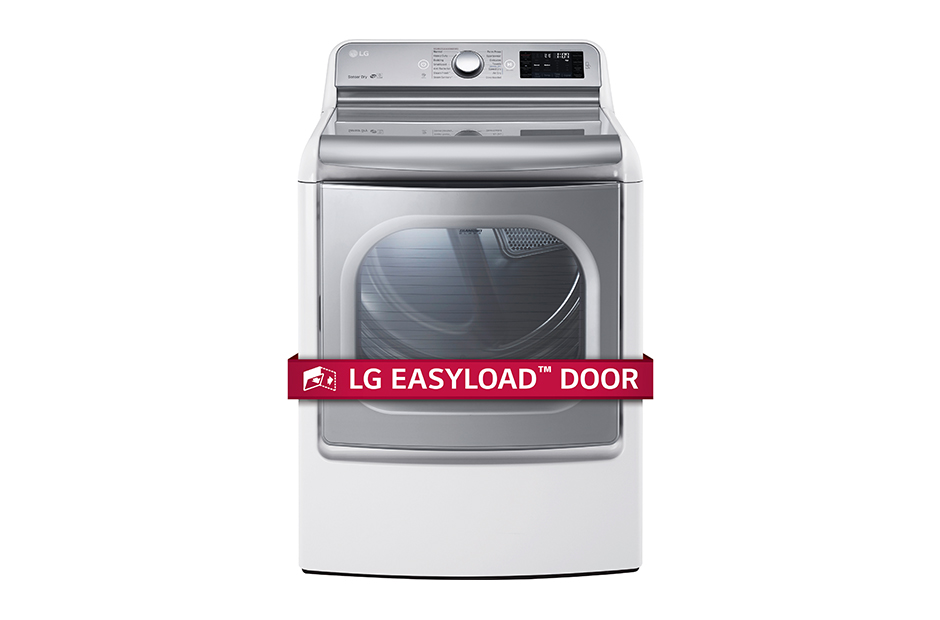 LG 9.0 cu.ft. Mega Capacity TurboSteam™ Dryer with EasyLoad™ Door