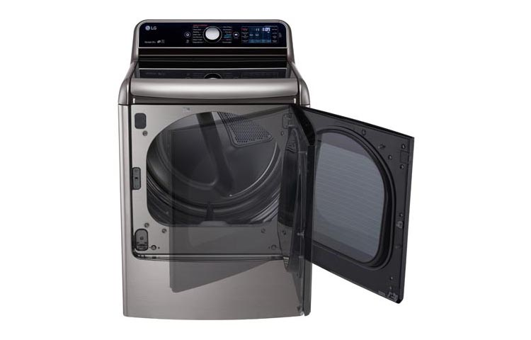 Model: DLGX7701VE | 9.0 cu.ft. Mega Capacity TurboSteam™ Dryer with EasyLoad™ Door