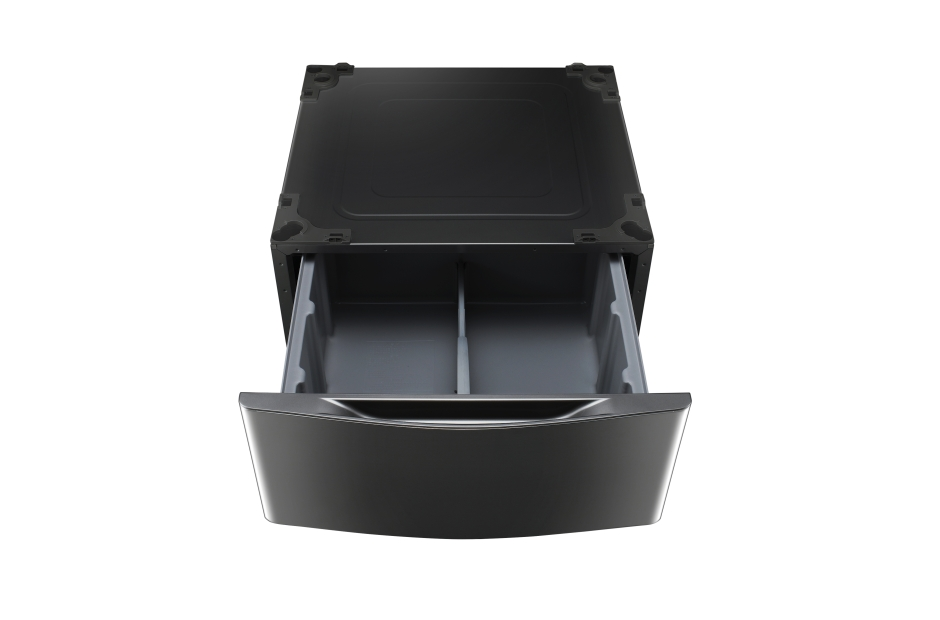 Model: WDP4K | LG Laundry Pedestal – Black Stainless Steel