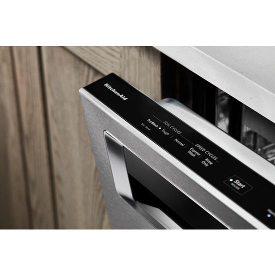 46 DBA Dishwasher with Third Level Rack and PrintShield™ Finish, Pocket Handle