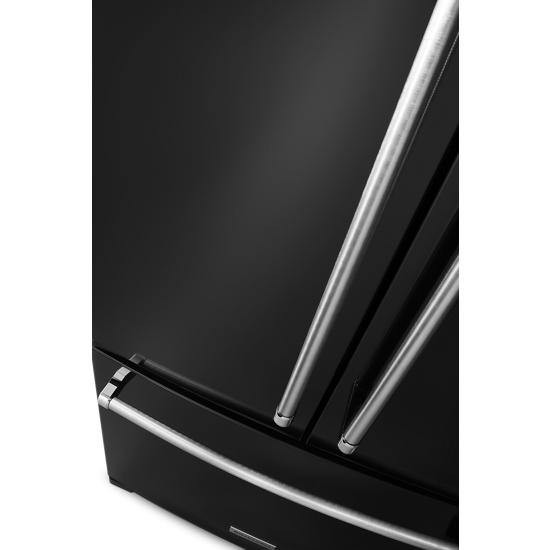 Model: KRFC300EBL | 20 cu. ft. 36-Inch Width Counter-Depth French Door Refrigerator with Interior Dispense