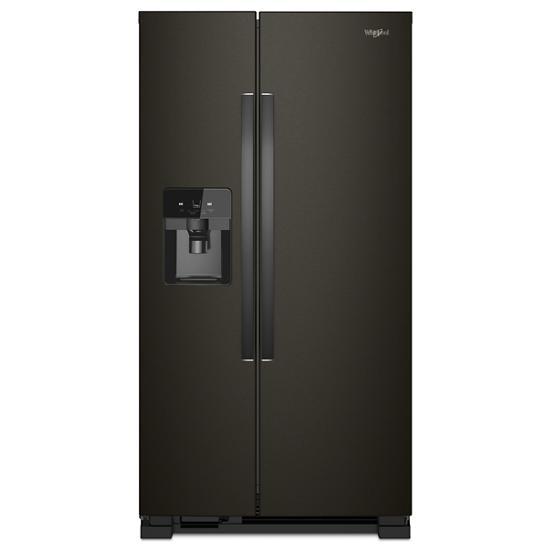 Model: WRS555SIHV | Whirlpool 36-inch Wide Side-by-Side Refrigerator - 25 cu. ft.
