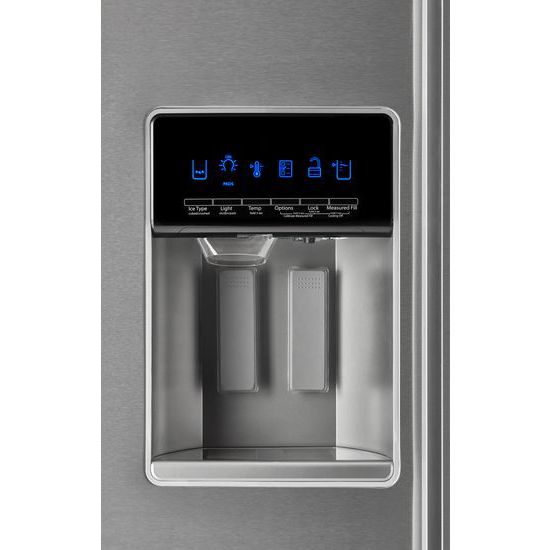 Model: WRSA88FIHZ | Whirlpool 36-inch Wide Contemporary Handle Side-by-Side Refrigerator - 28 cu. ft.