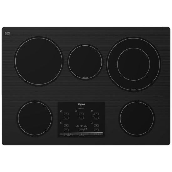 Model: G9CE3065XB | Whirlpool Gold® Series 30-inch Electric Ceramic Glass Cooktop with Tap Touch Controls
