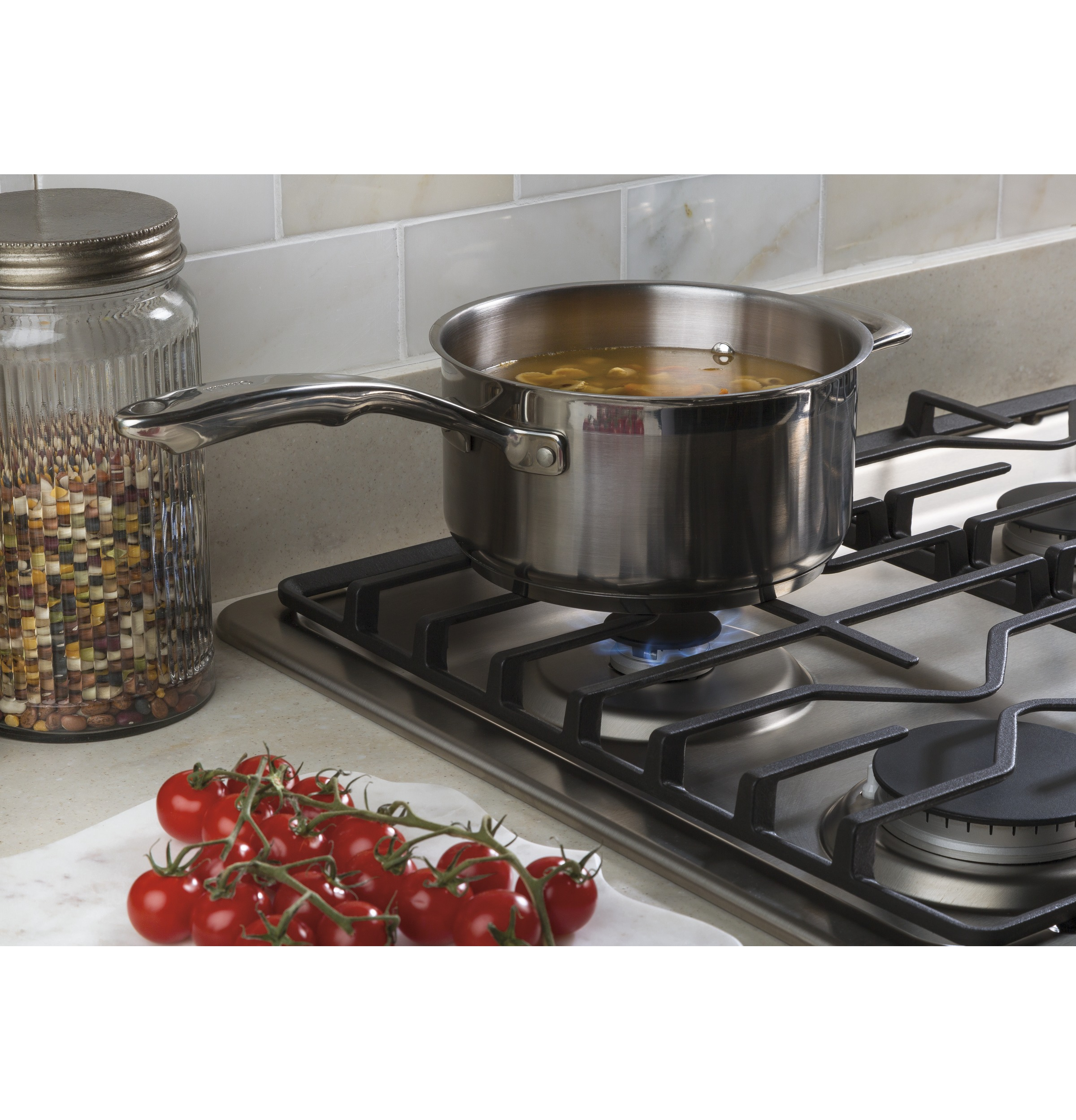 "Model: JGP3030SLSS | GE GE® 30"" Built-In Gas Cooktop with Dishwasher-Safe Grates"