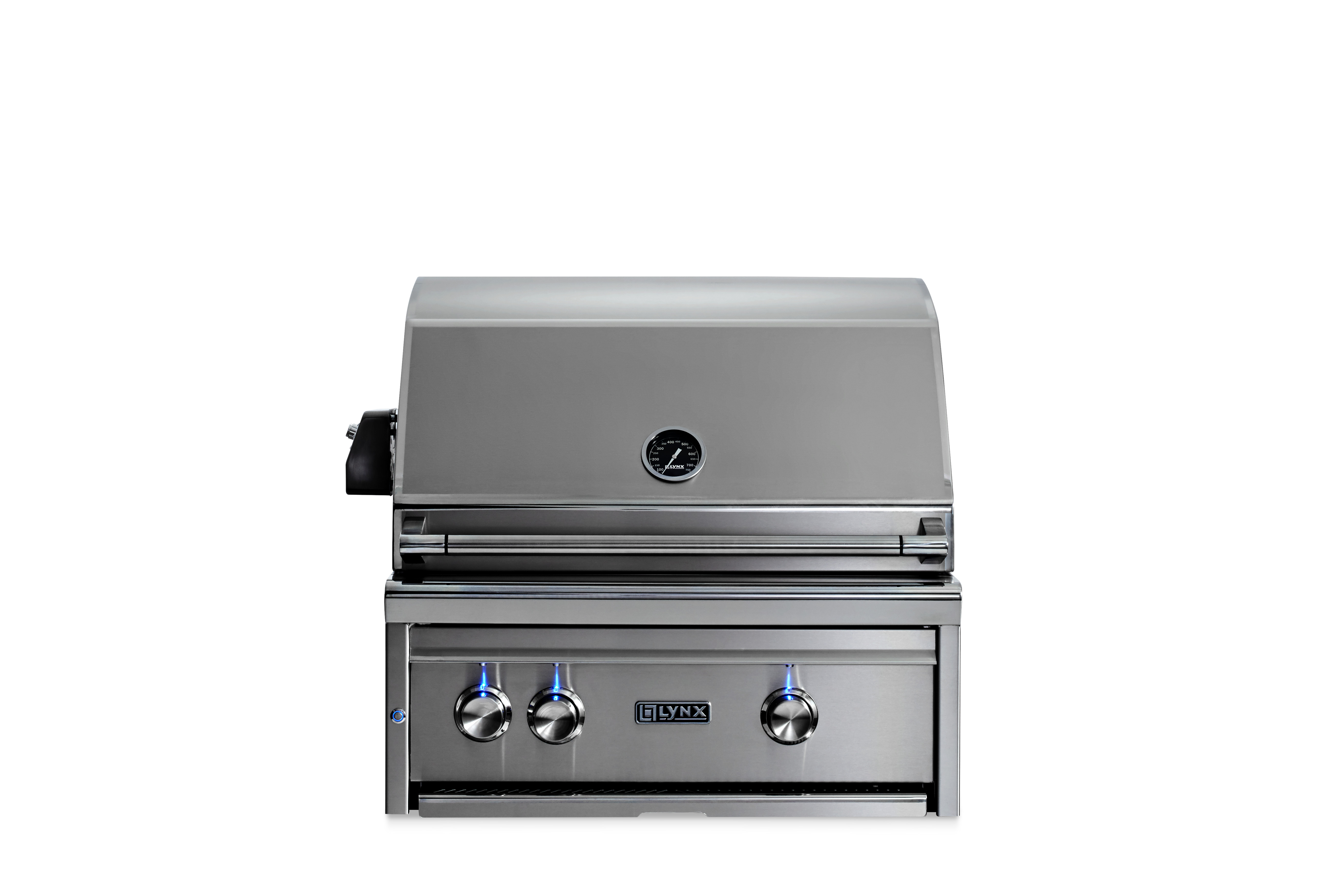 """Lynx 27"""" Lynx Professional Built In Grill with 1 Trident™ and 1 Ceramic Burner and Rotisserie, NG"""