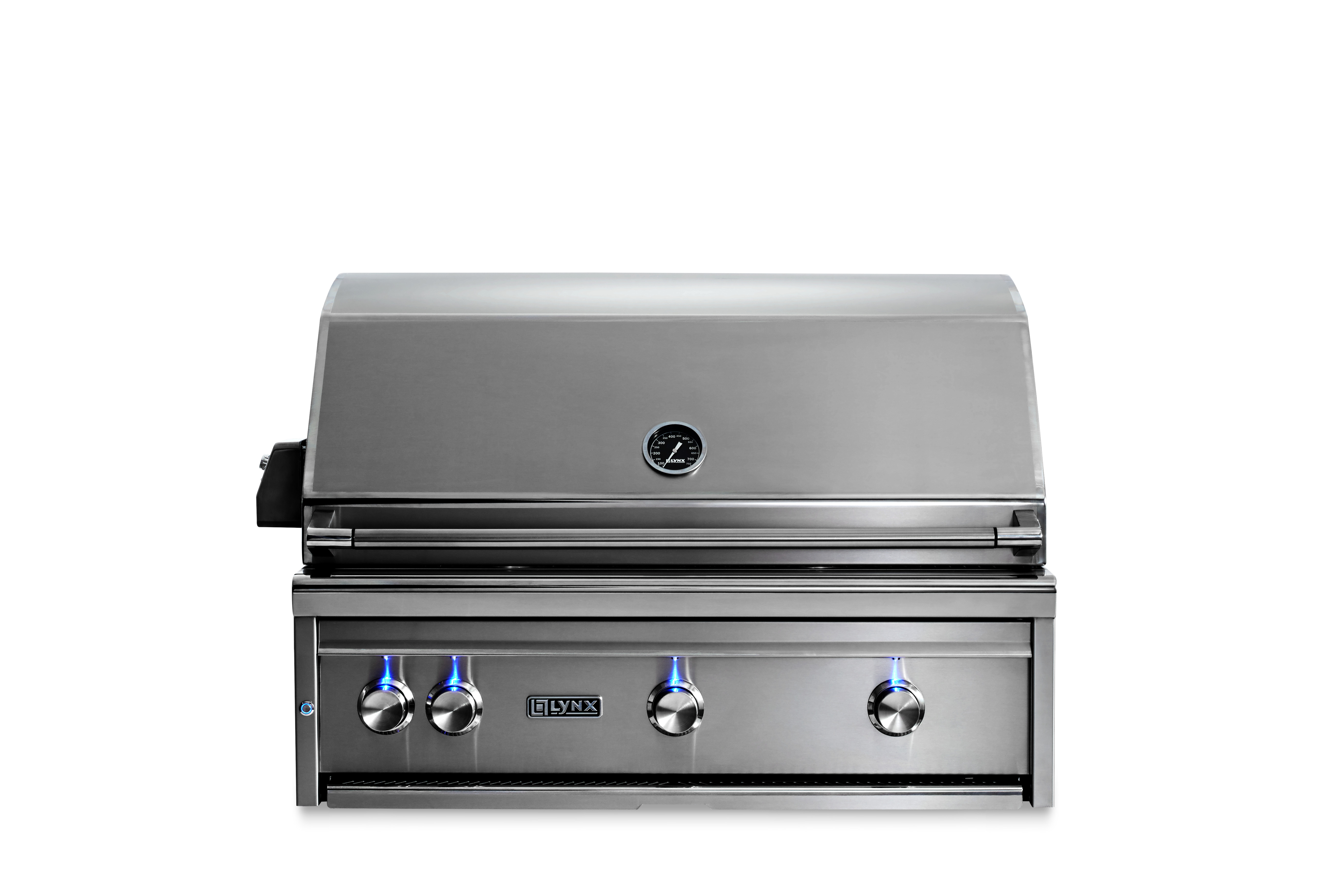 """Lynx 36"""" Lynx Professional Built In Grill with 1 Trident™ and 2 Ceramic Burners and Rotisserie, NG"""