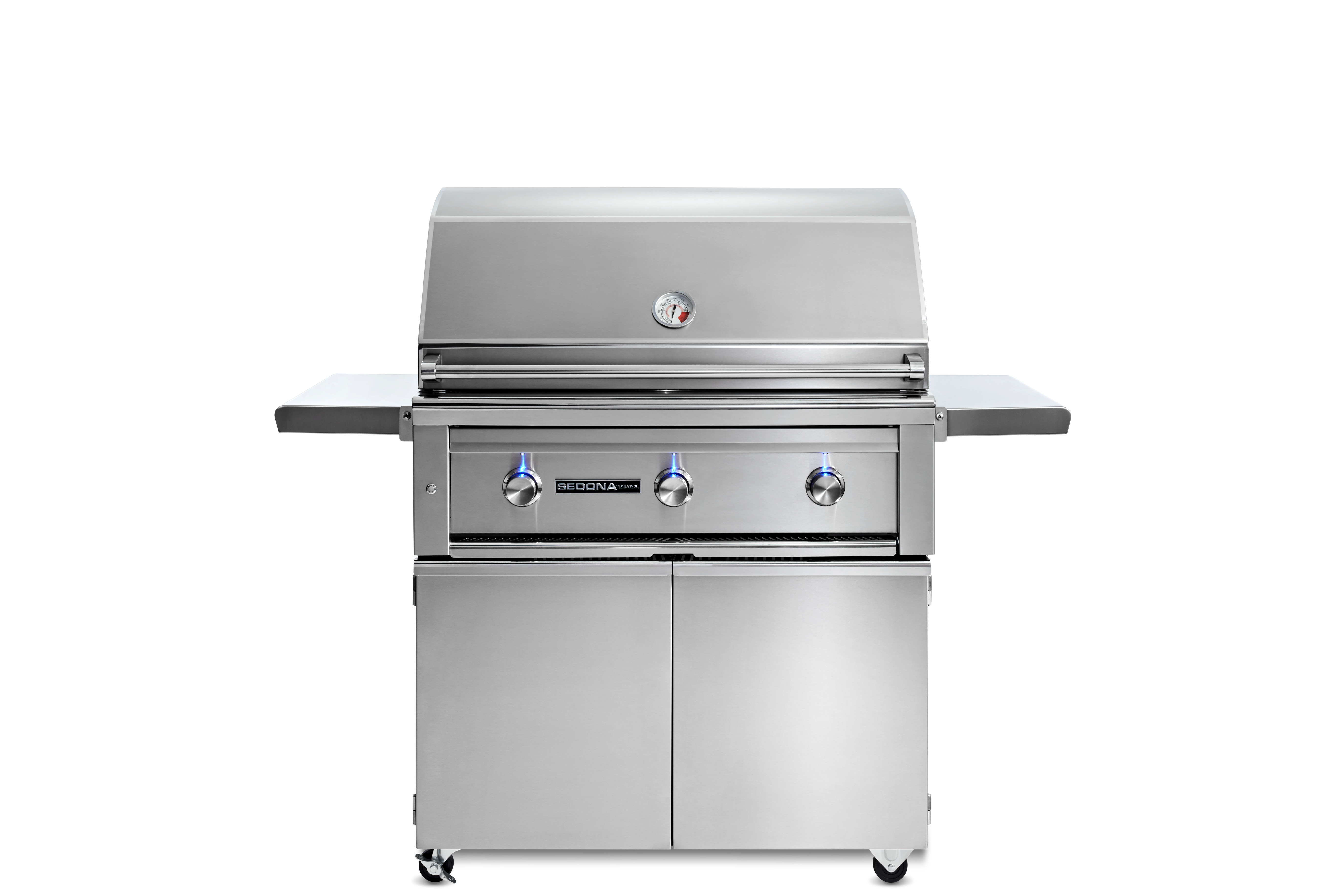 """Lynx 36"""" Sedona by Lynx Freestanding Grill with 2  Stainless Steel Burners and ProSear Burner, LP"""