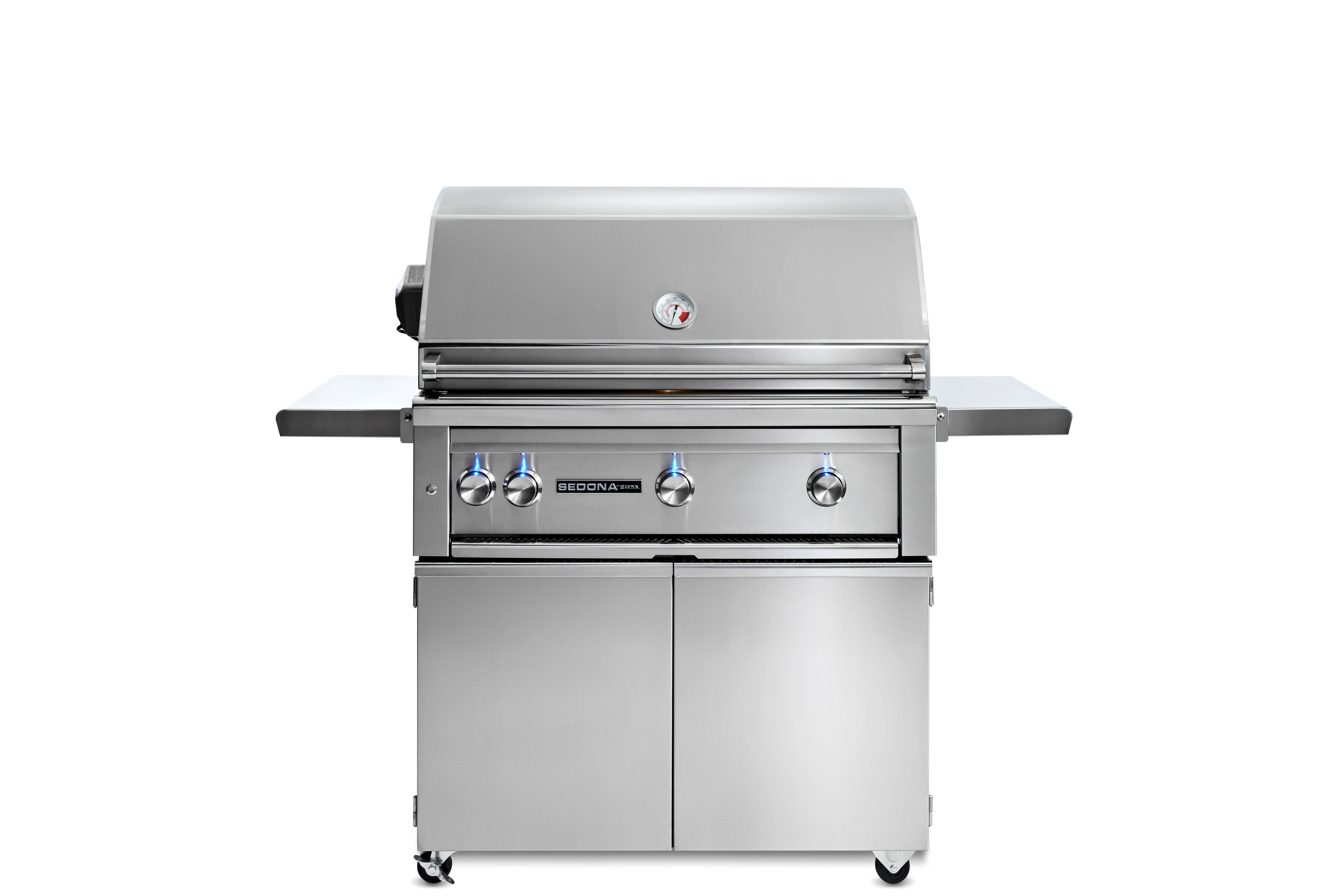 """Lynx 36"""" Sedona by Lynx Freestanding Grill with 2 Stainless Steel Burners and ProSear Burner and Rotisserie, NG"""
