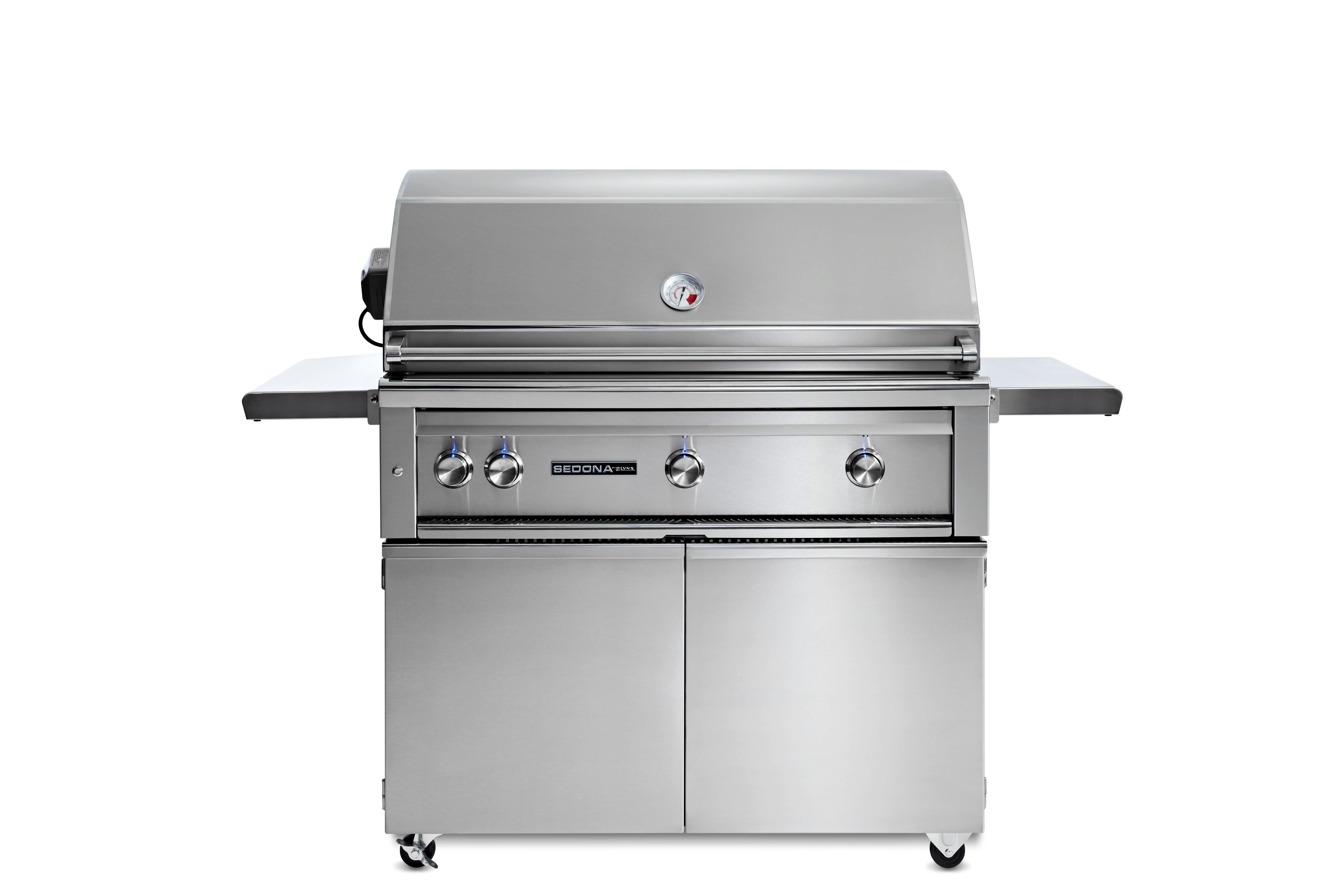"""Lynx 42"""" Sedona by Lynx Freestanding Grill with 3 Stainless Steel Burners and Rotisserie, LP"""