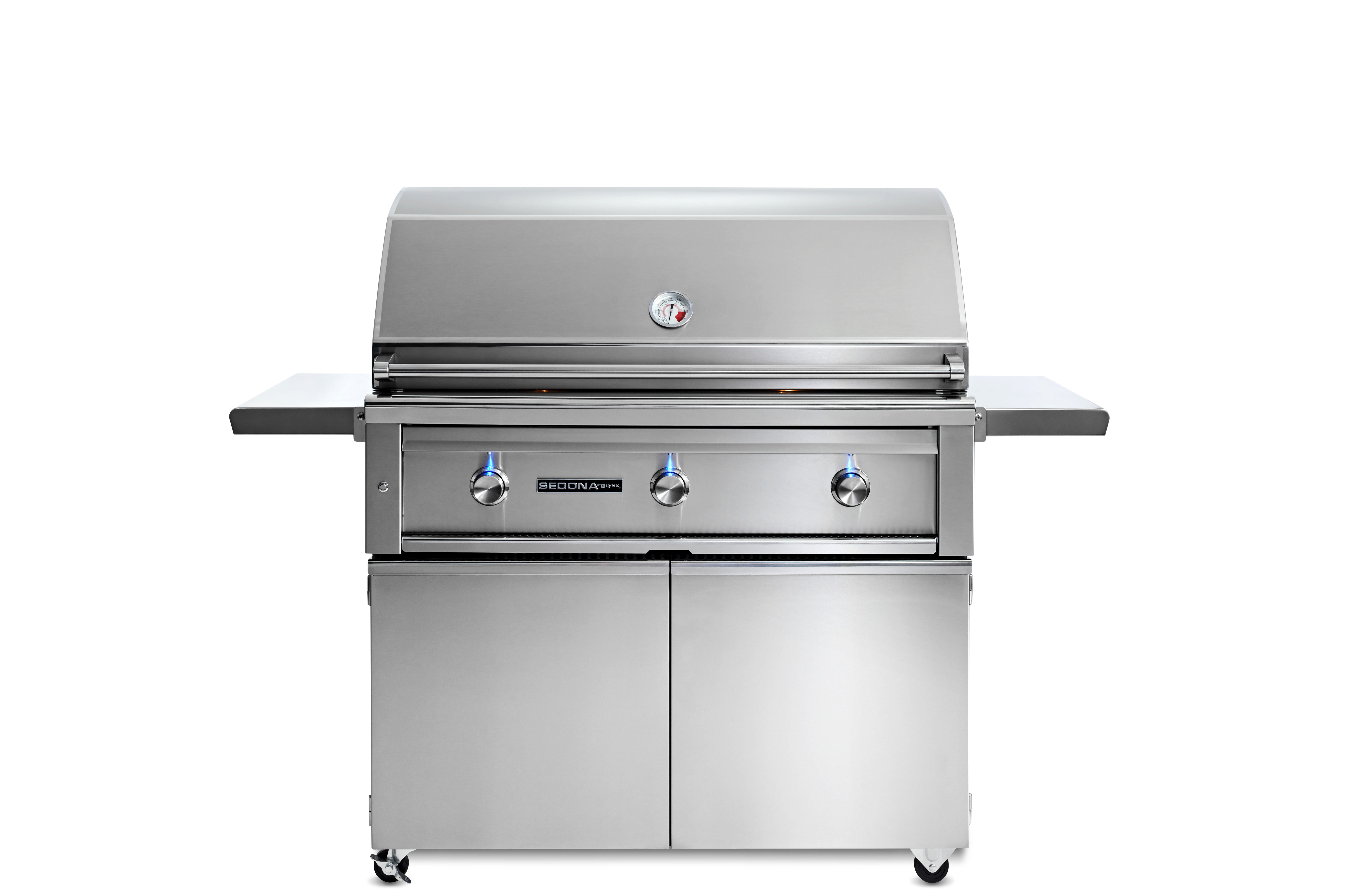 """Lynx 42"""" Sedona by Lynx Freestanding Grill with 2 Stainless Steel Burners and ProSear Burner, NG"""