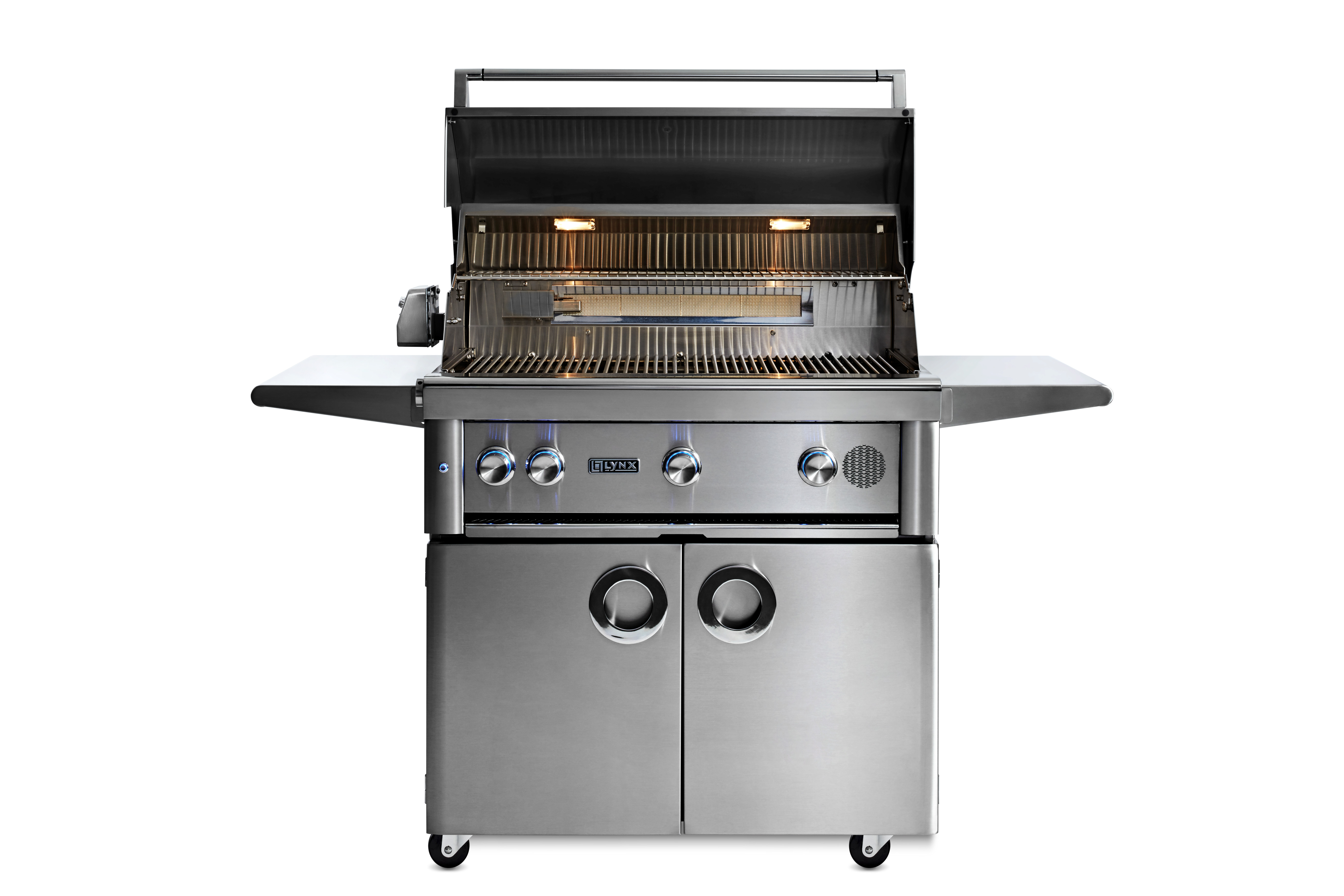 """Model: SMART36F-NG   Lynx 36"""" Lynx Professional Freestanding Smart Grill with Rotisserie, NG"""
