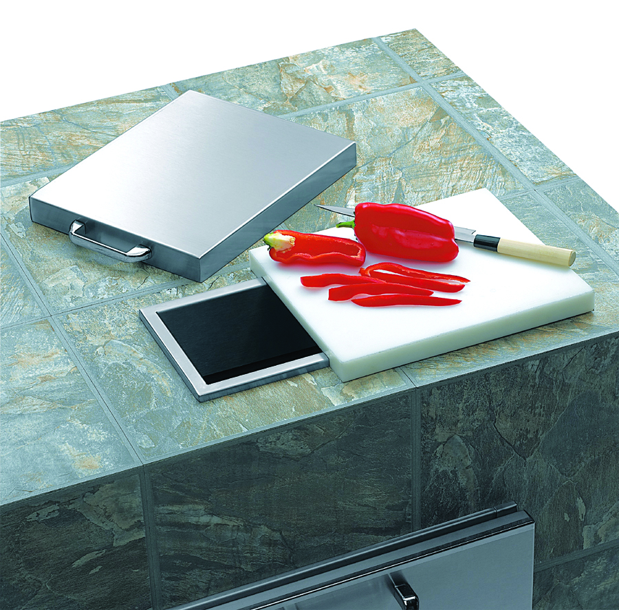 Lynx Countertop Trash Chute w/ cutting board & cover