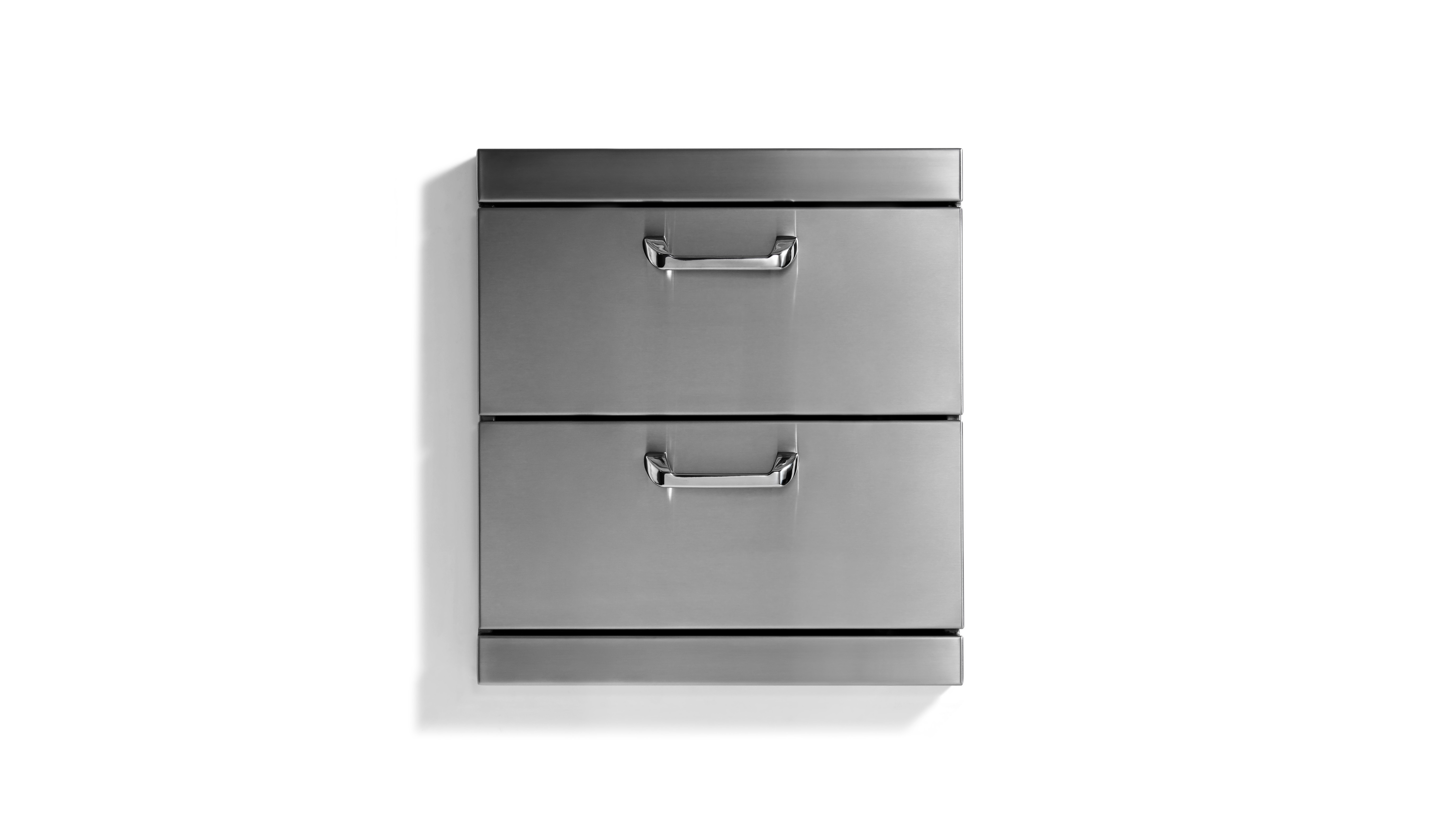 "Lynx Utility Drawers - Two Extra large drawers w/ 5"" offset handles."