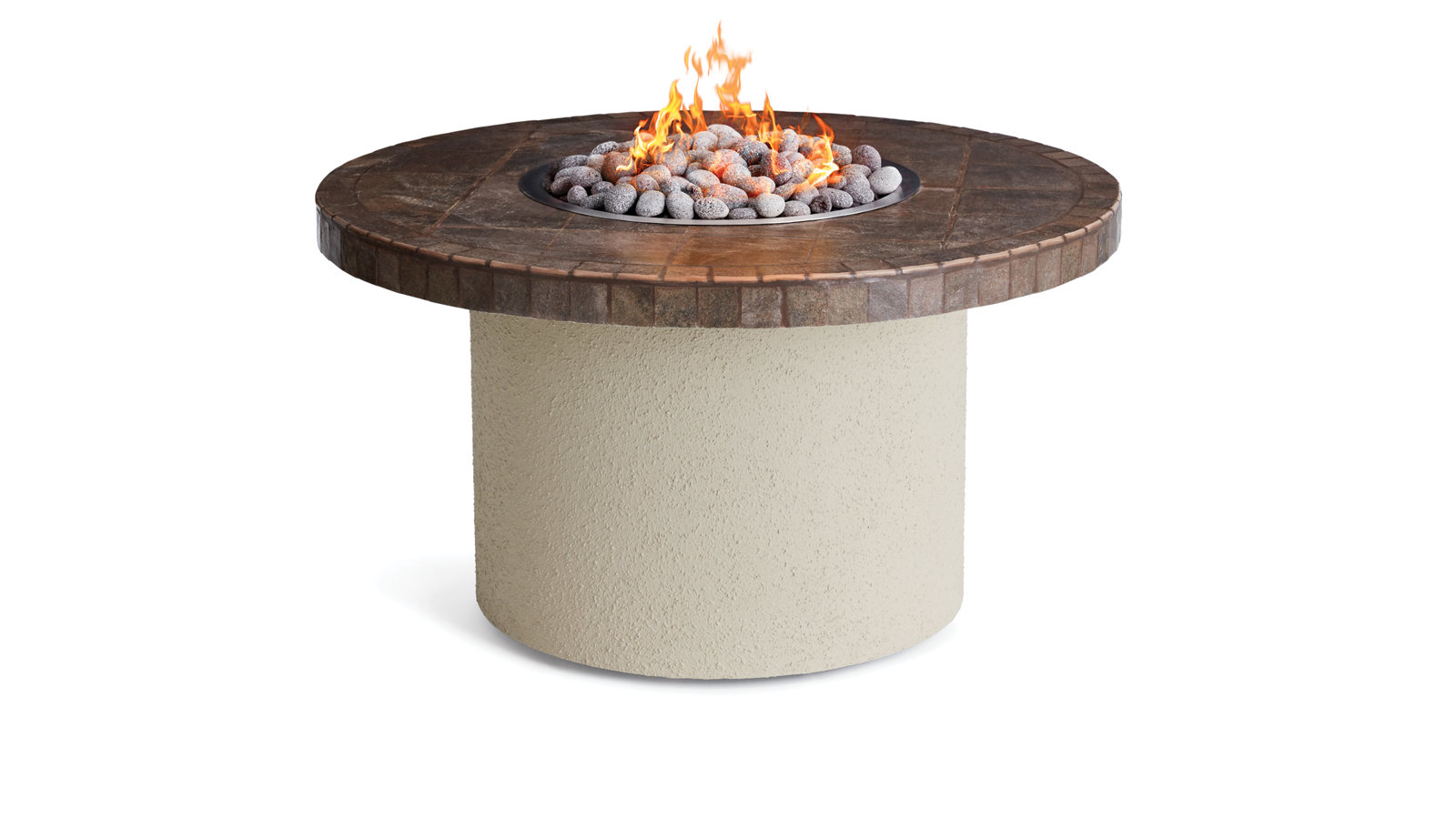 "Model: LFPC-C | Lynx 44"" Circular Ice N Fire Pit, Contemporary Gray"