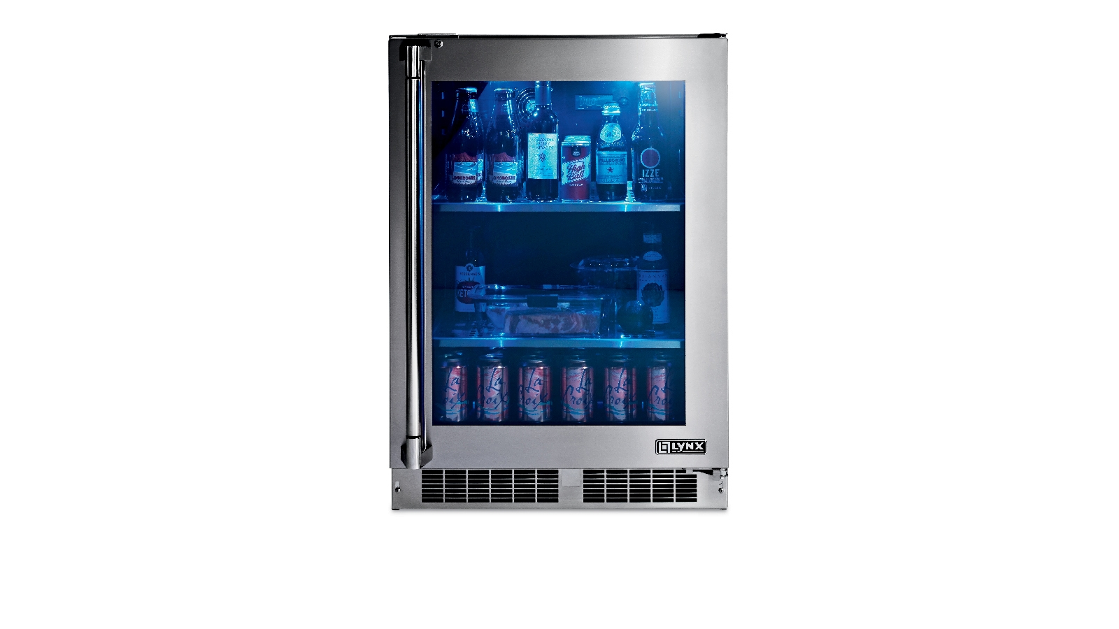 "Lynx 24"" Outdoor Glass Door Refrigerator, Right Hinge"