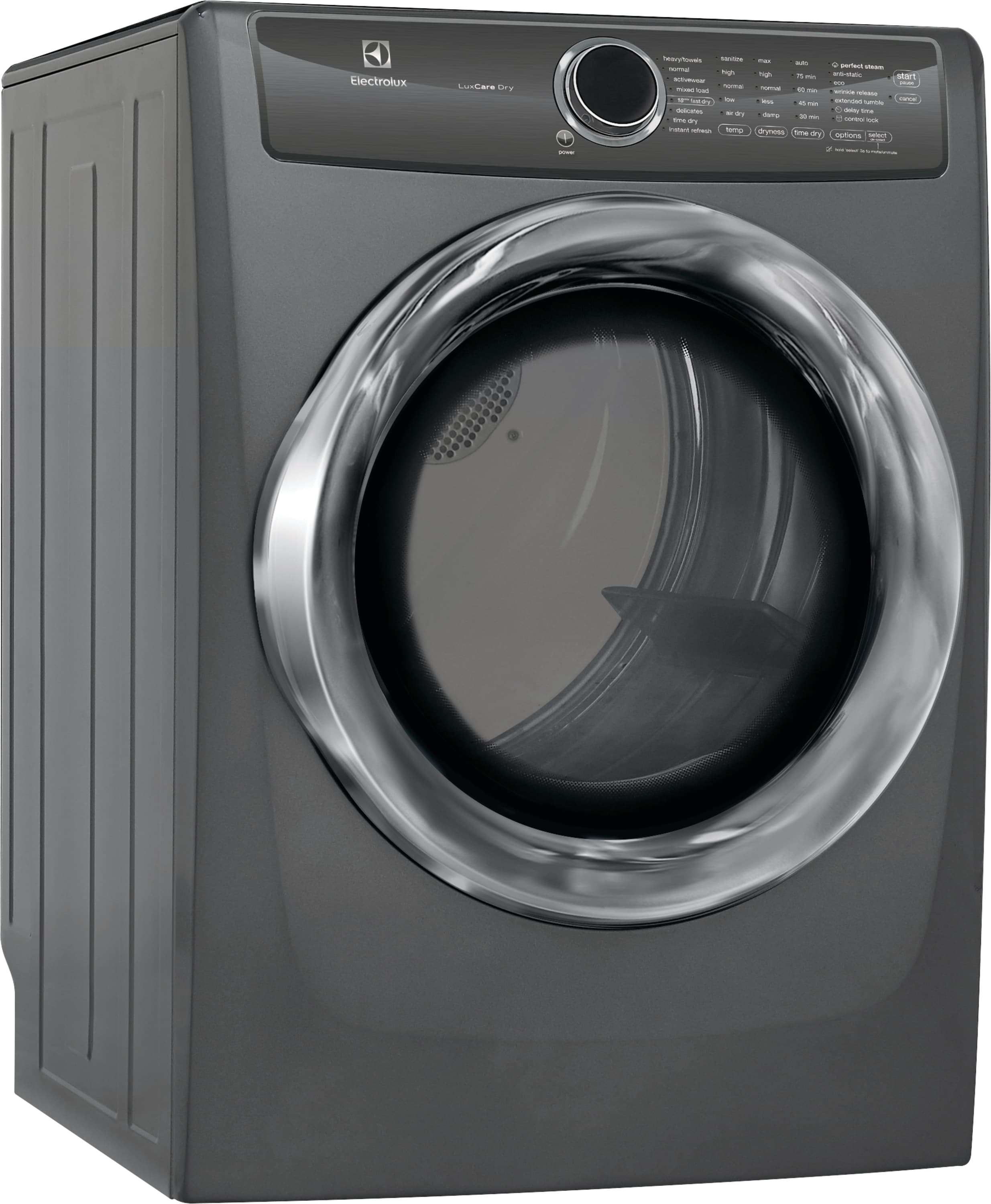 Model: EFME527UTT | Front Load Perfect Steam™ Electric Dryer with LuxCare® Dry and Instant Refresh - 8.0 Cu. Ft.