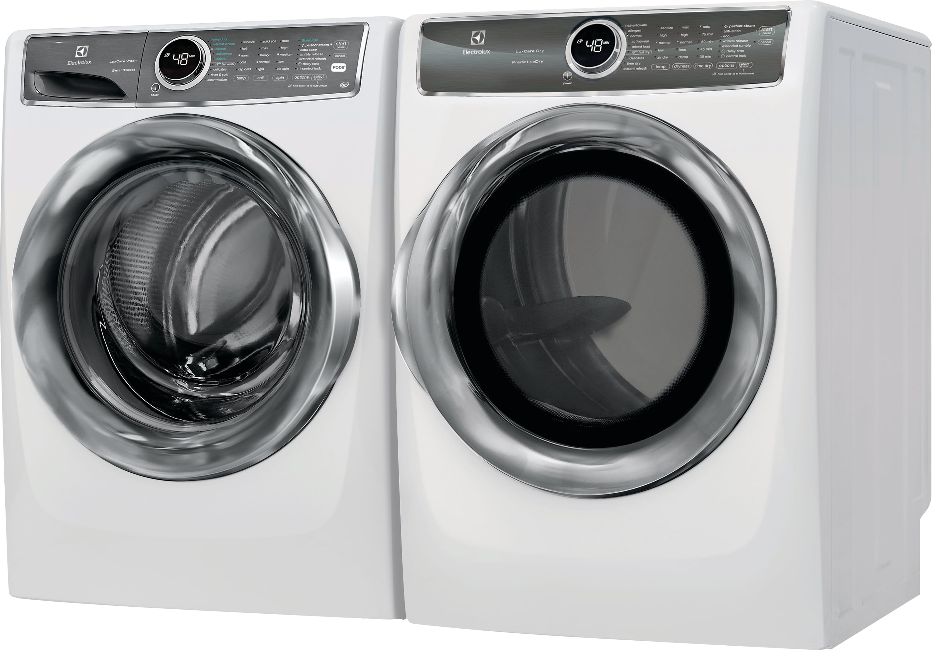 Model: EFME627UIW | Front Load Perfect Steam™ Electric Dryer with PredictiveDry™ and Instant Refresh - 8.0. Cu. Ft.