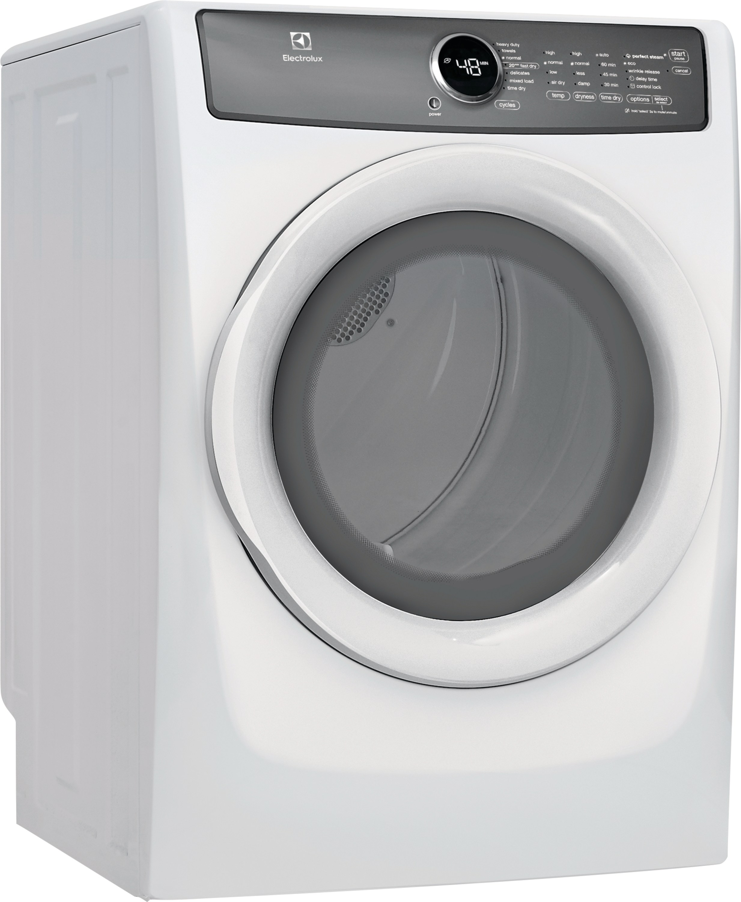 Model: EFMG427UIW | Front Load Perfect Steam™ Gas Dryer with 7 cycles - 8.0 Cu. Ft.