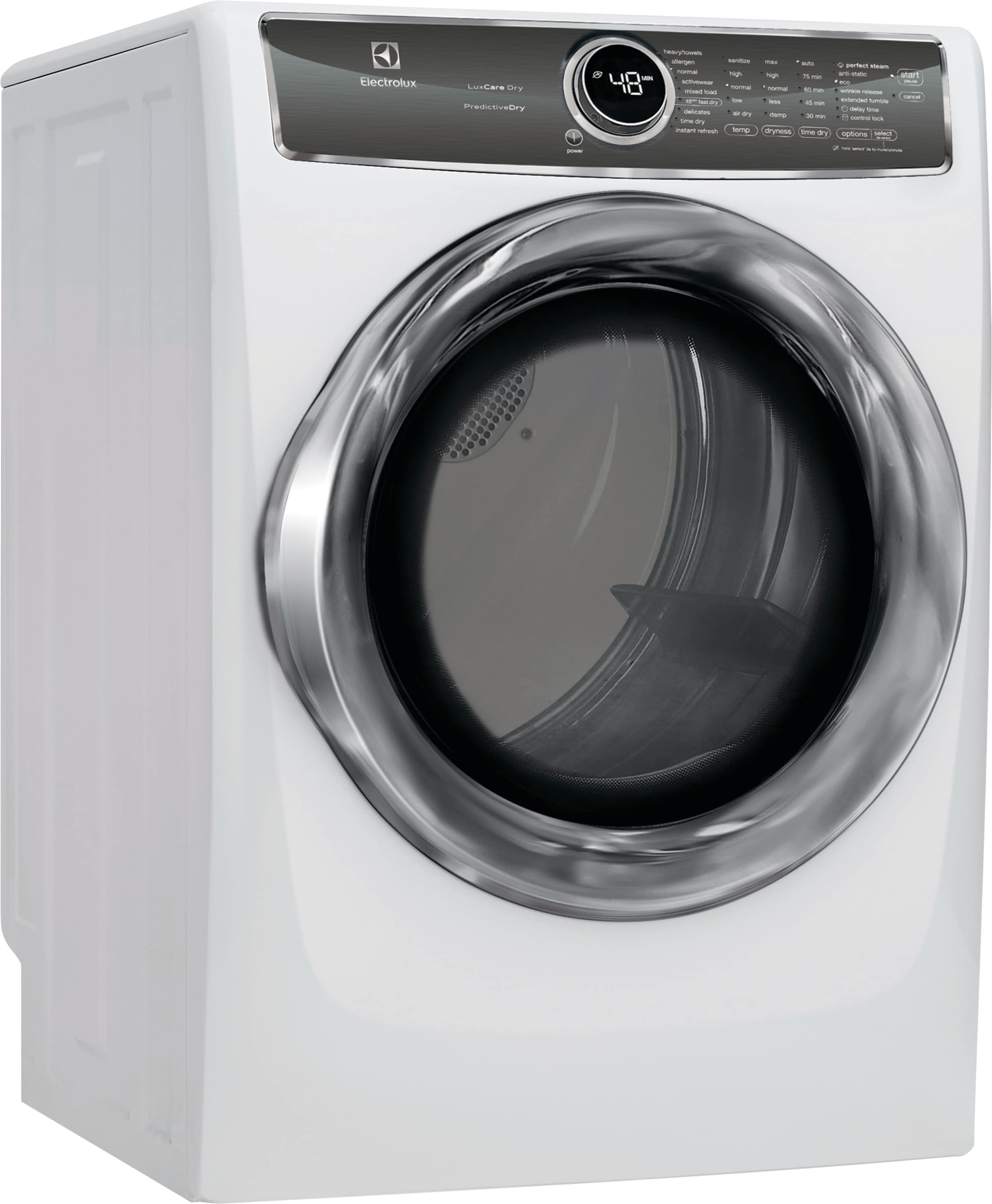 Model: EFMG627UIW | Front Load Perfect Steam™ Gas Dryer with PredictiveDry™ and Instant Refresh - 8.0. Cu. Ft.