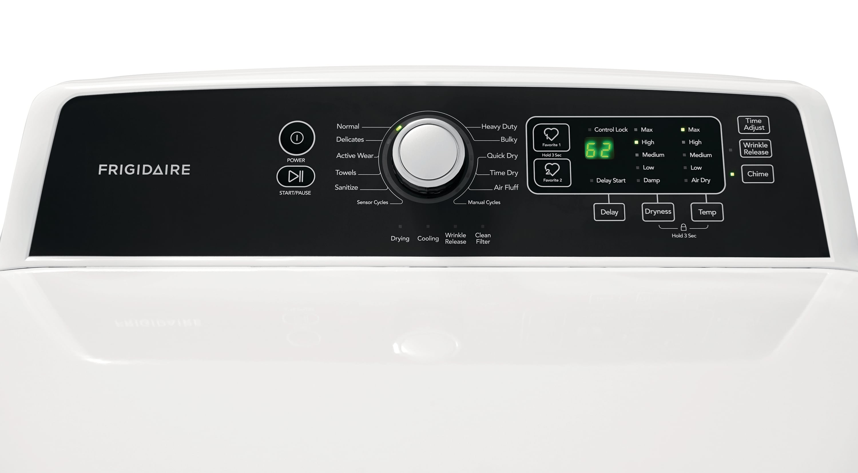 Model: FFRG4120SW | 6.7 Cu. Ft. Free Standing Gas Dryer