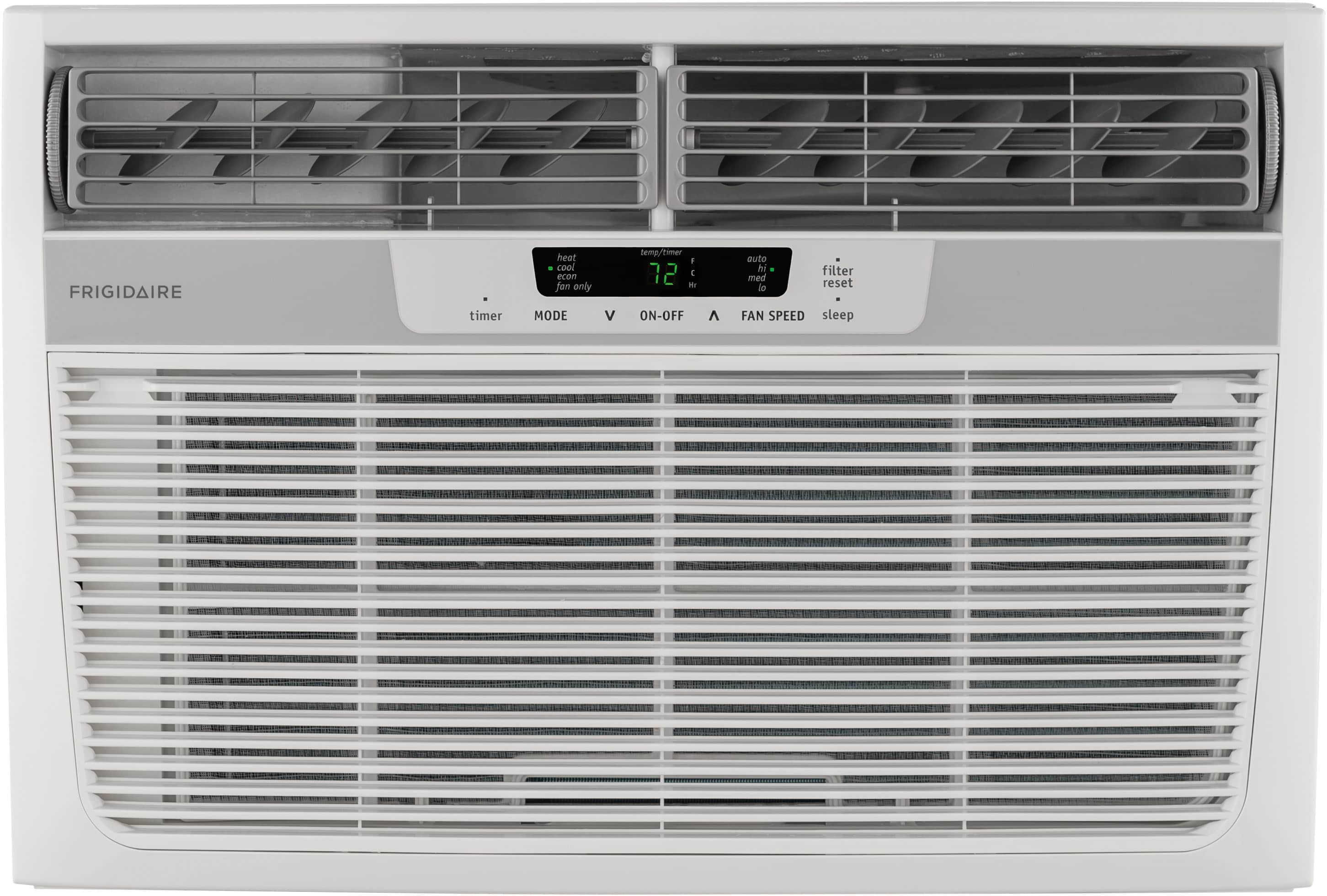 11,000 BTU Window-Mounted Room Air Conditioner with Supplemental Heat