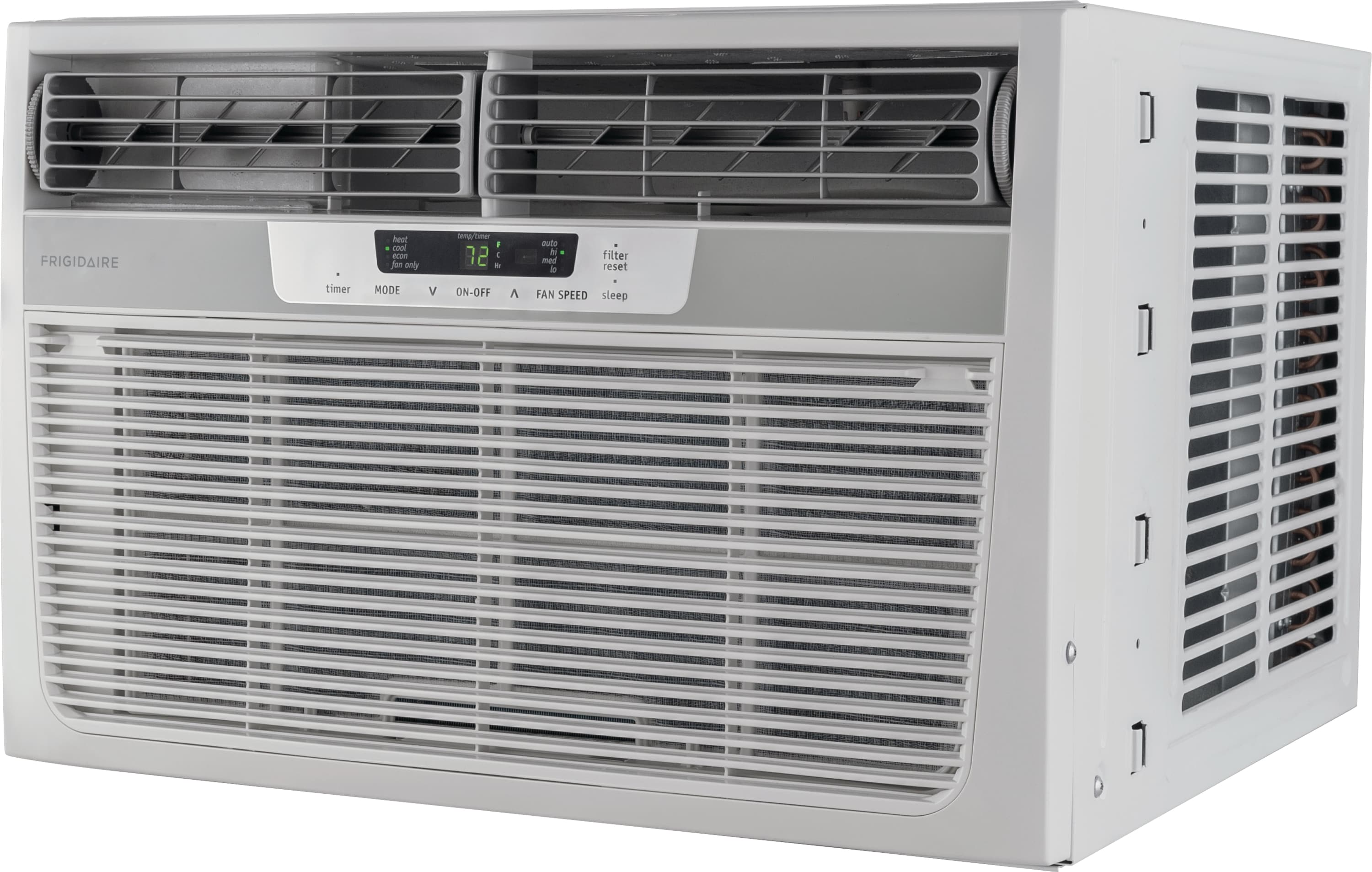12,000 BTU Window-Mounted Room Air Conditioner with Supplemental Heat