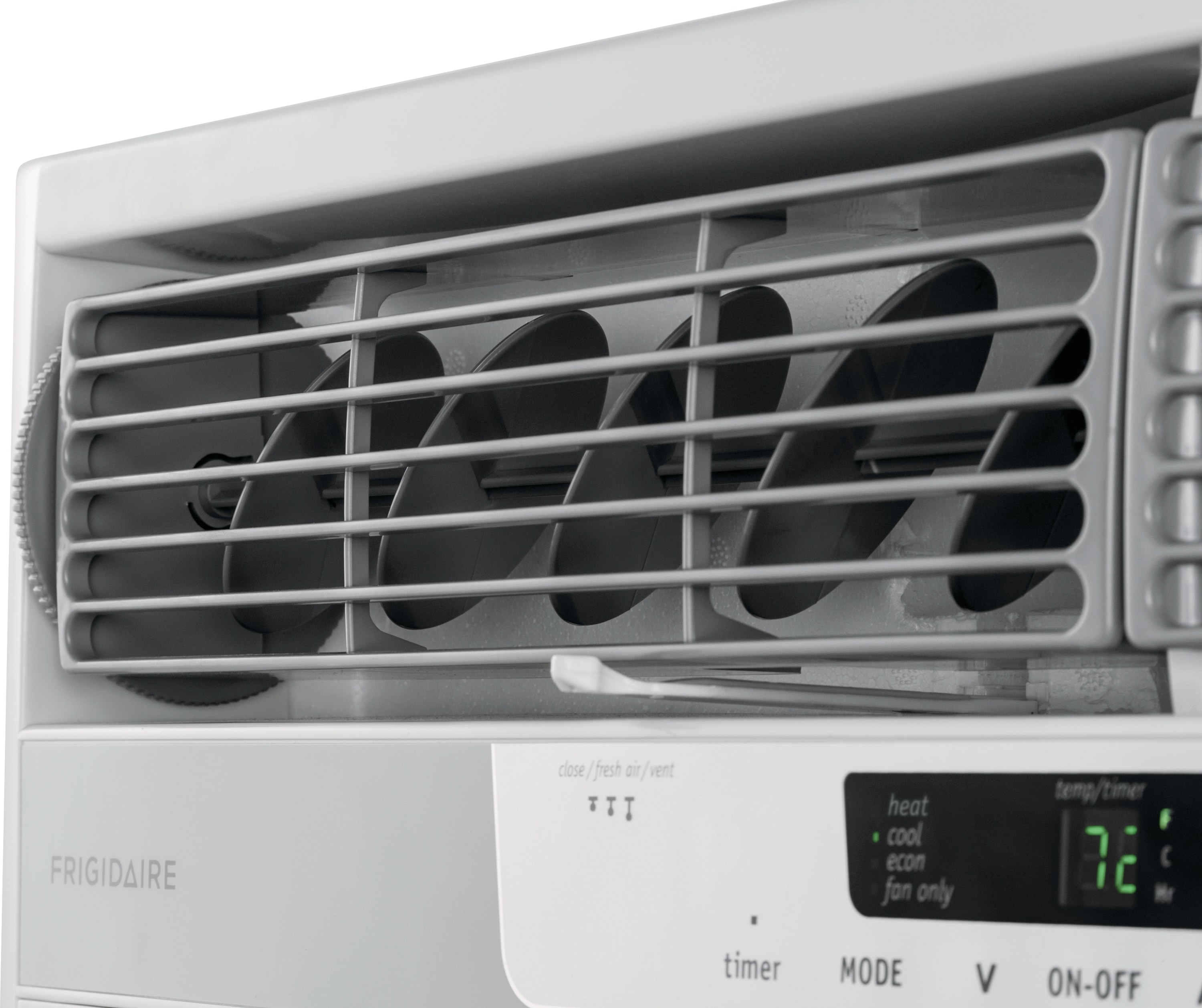 25,000 BTU Window-Mounted Room Air Conditioner with Supplemental Heat