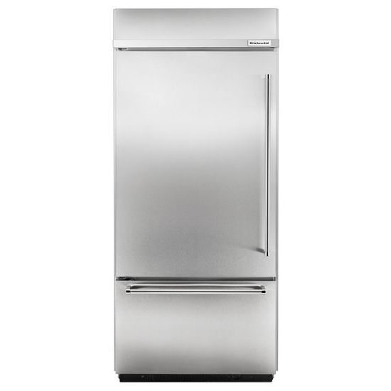 "Model: KBBL206ESS | KitchenAid Built-In Stainless Bottom Mount Refrigerator 20.9 Cu. Ft. 36"" Width"