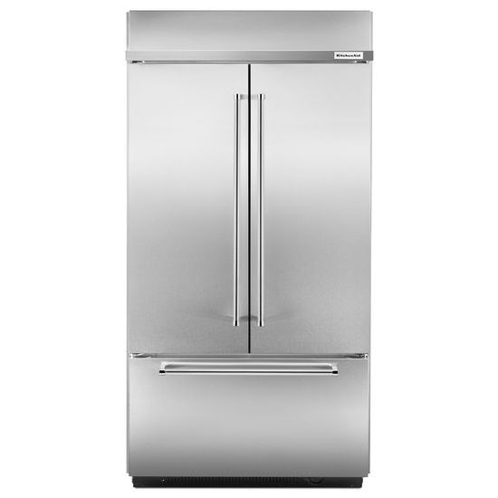 "KitchenAid 24.2 Cu. Ft. 42"" Width Built-In Stainless French Door Refrigerator"