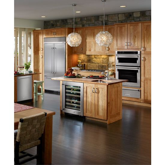 "Model: KBFN402ESS | KitchenAid 24.2 Cu. Ft. 42"" Width Built-In Stainless French Door Refrigerator"