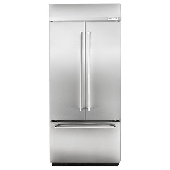"KitchenAid 20.8 Cu. Ft. 36"" Width Built-In Stainless French Door Refrigerator"