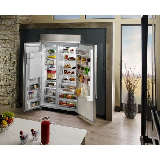 Model: KBSD618ESS | 29.5 cu. ft 48-Inch Width Built-In Side by Side Refrigerator