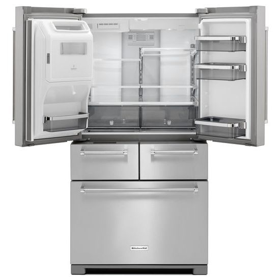Model: KRMF606ESS | 25.8 Cu. Ft. 36-Inch Multi-Door Freestanding Refrigerator