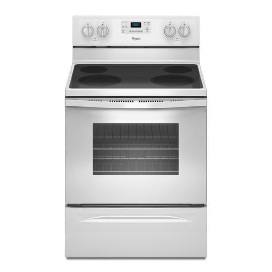 Whirlpool 5.3 Cu. Ft. Freestanding Electric Range with Easy Wipe Ceramic Glass Cooktop