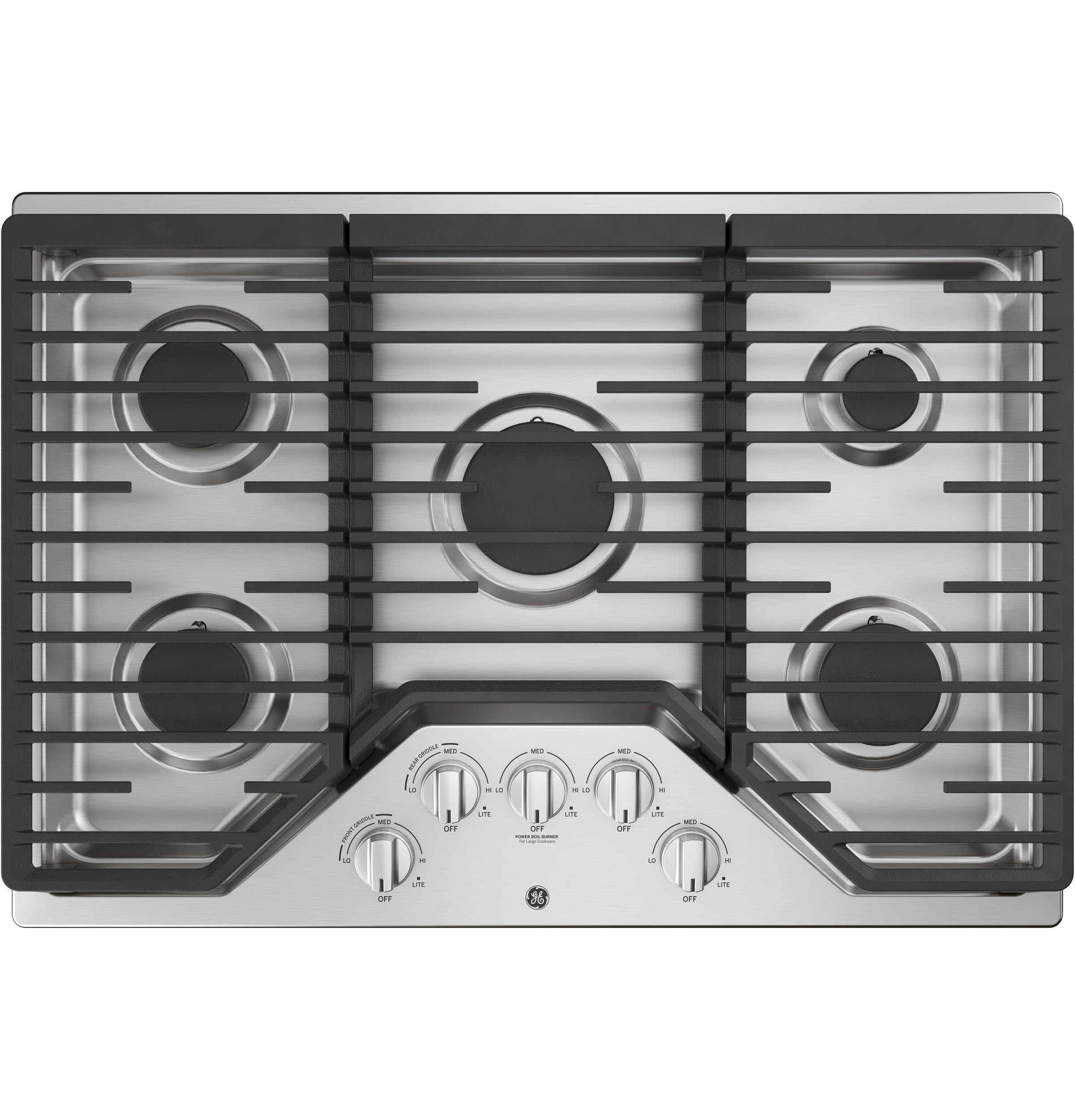 "GE GE® 30"" Built-In Gas Cooktop with 5 Burners and Dishwasher Safe Grates"