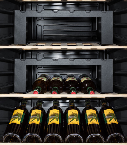 Full-sized two-door wine cellar with European preservation system