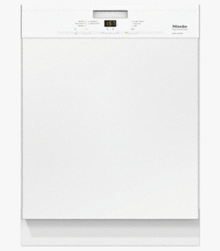 Miele G4948SCUWH  Pre-finished, full-size dishwasher with visible control panel, cutlery basket