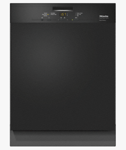 G4948 U BL Pre-finished, full-size dishwasher with visible control panel, cutlery basket